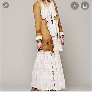 Free People Boho crocheted lace skirt (runs large)